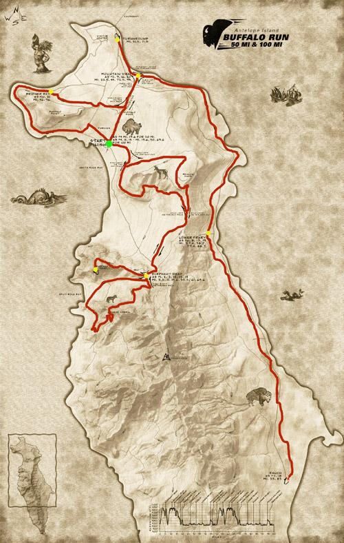 Antelope Island Buffalo Run Mile Race Bryant Heath - How to map out a run